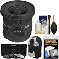 Sigma 10-20mm f/3.5 EX DC HSM Zoom Lens with Case + 3 Kit for Nikon D3300, D3400, D5500, D5600 D7100, D7200, D7500 DSLR Cameras