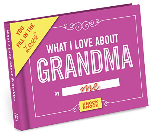 What I Love About Grandma Fill-in-the-Blank Book