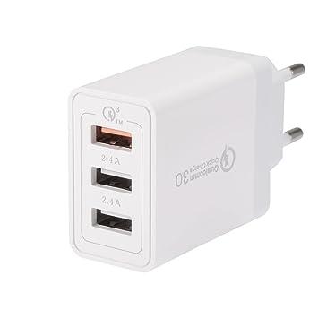 Kreema Adaptador de cargador rapido portatil QC 3.0 30W UE ...