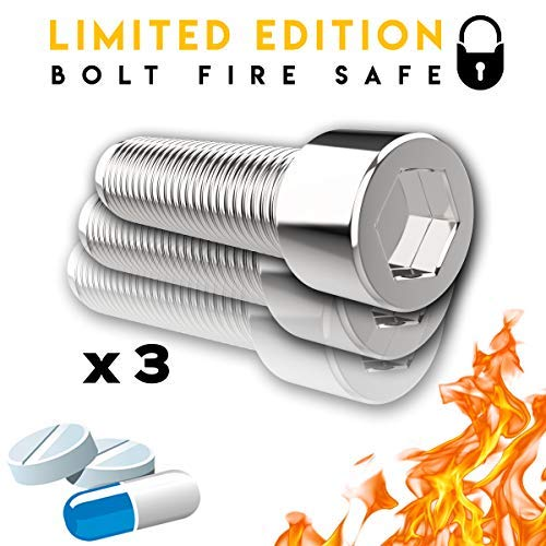 Pro Security Bolt (3 Pack) - Premium Clever Diversion Safe Lock Box - Alloy Metal Stash Hidden Security - Best Gifts of 2018 - On The Go Travel Case For - Bolt Hollow