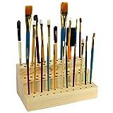 Ikee Design Wooden Cosmetic Make Up Brush Eyeliner Mascara Paintbrush Holder Organizer and Display for 63 Brushes