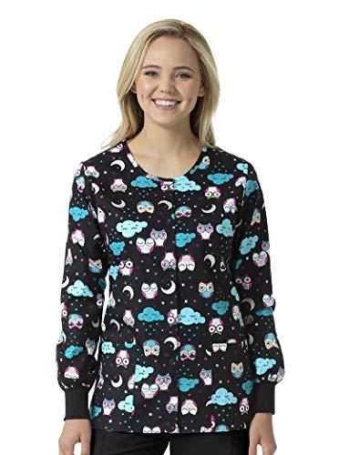 Zoe & Chloe Women's Printed Warm Up Jacket, Nocturnal Friends, Medium ()