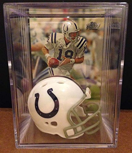 Indianapolis Colts NFL Helmet Shadowbox w/ Peyton Manning card