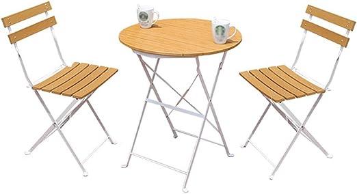 XZG Table et chaise de balcon de jardin 3 Pliage en métal