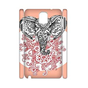 Samsung galaxy note 3 N9000 Elephant flower 3D Art Print Design Phone Back Case Use Your Own Photo Hard Shell Protection TY047624