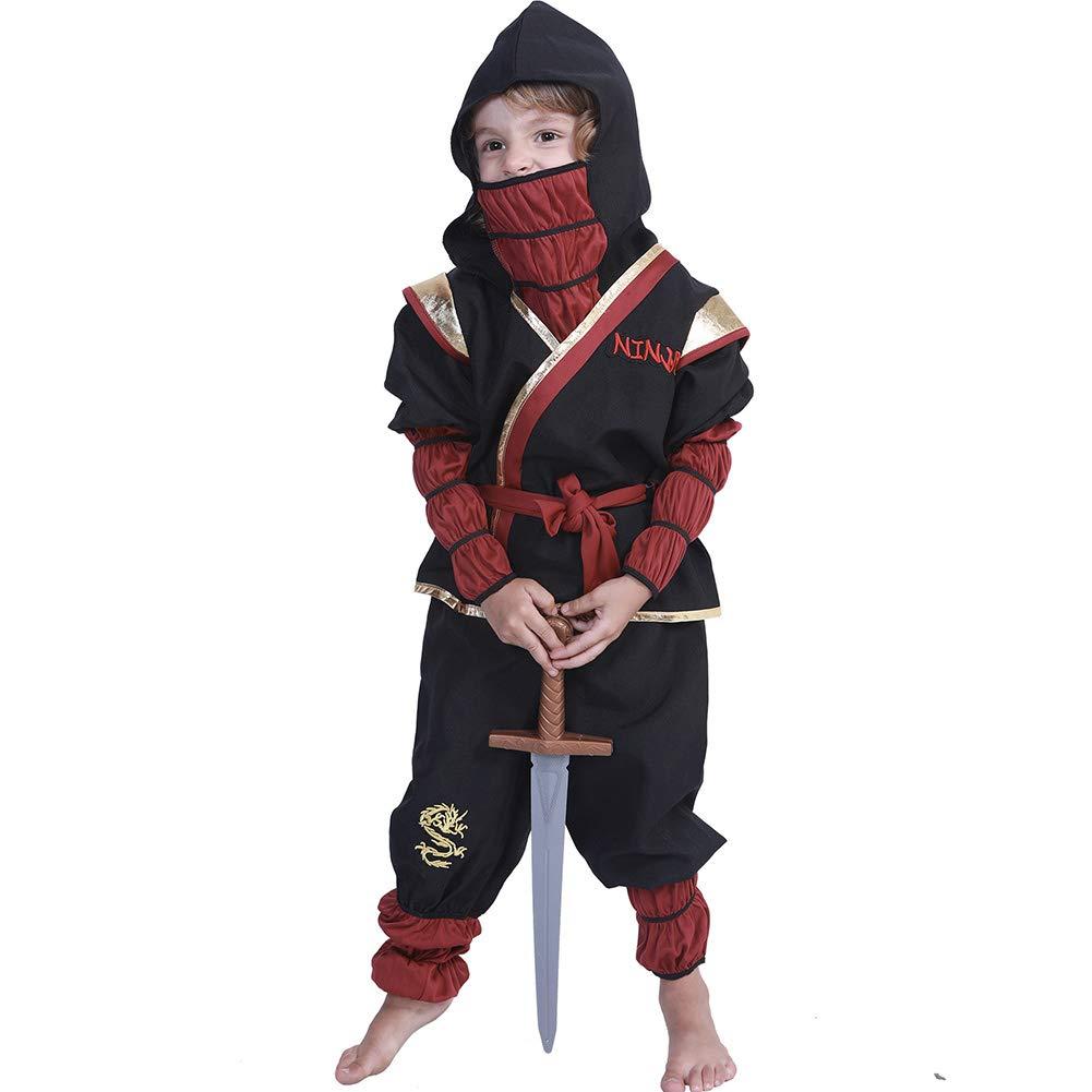 LJLis Deluxe Disfraces de Halloween Niños de Sigilo Ninja ...
