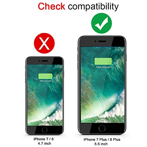 (Upgraded) iPhone 7 Plus /8 Plus Battery Case, AUYOO 5500mAh Portable Charger Case Ultra-Thin Rechargeable Extended Battery Pack Protective Backup Charging Case Cover for Apple iPhone 7 Plus /8 Plus by AUYOO (Image #5)