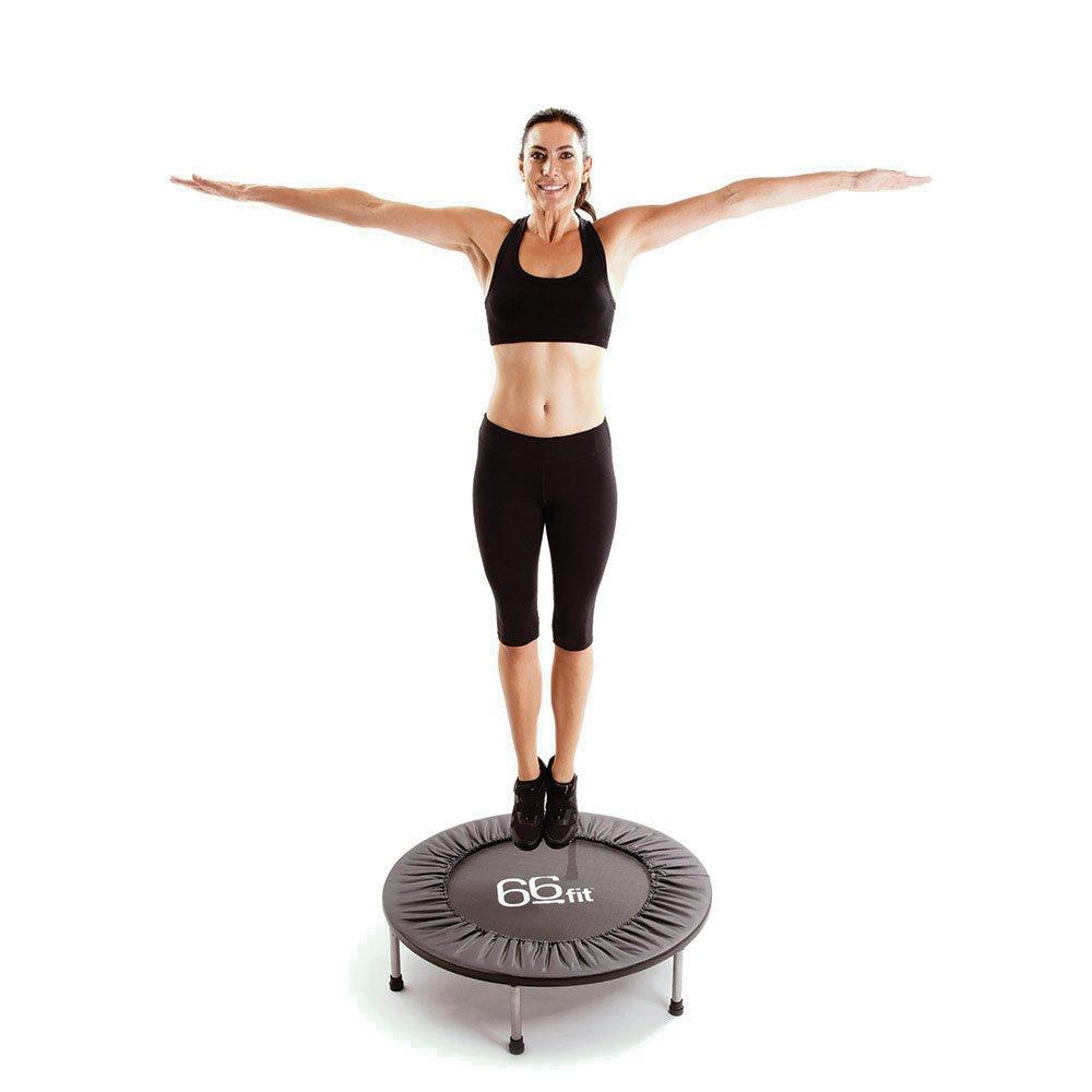 66Fit Mini-Trampolin (95 cm) - Sprungübungen für Cardio Fitness Training