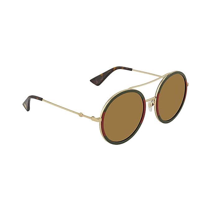 Gucci GG0061S 012 Gafas de sol, Dorado (12/Gold), 56 para ...