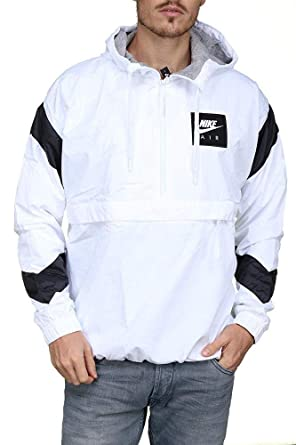 8d5962c275761 Nike Sportswear Air Woven Men's Half-Zip Jacket (X-Large, White ...