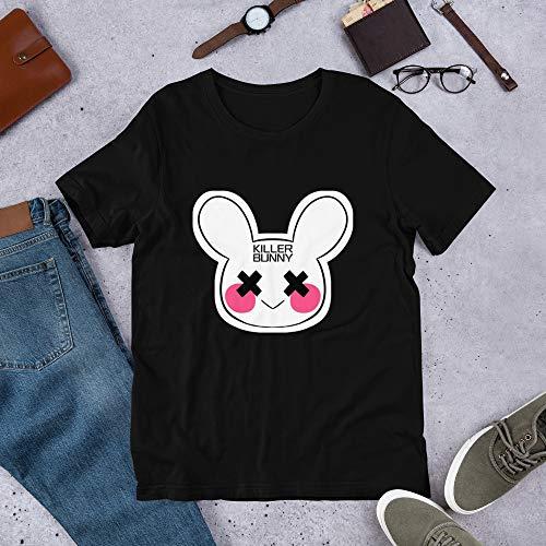 Killer Bunny Halloween Horror T-Shirt, Killer Bunny, Scary Bunny, Scary Rabbit, Halloween Party Black]()