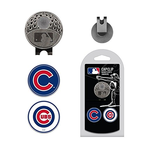 MLB Cap Clip With 2 Golf Ball Markers CUBS (Cubs Mlb Clip)