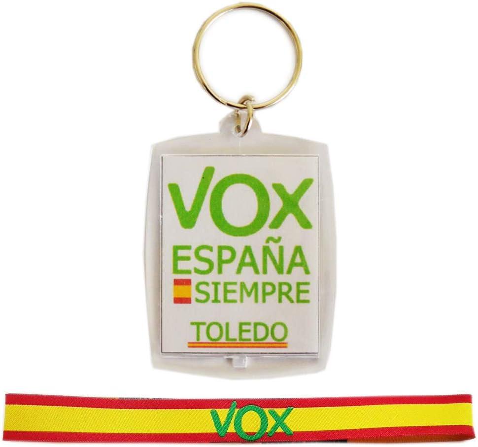 Pack VOX, Llavero metacrilato por Las Dos Caras y Pulsera de Tela ...