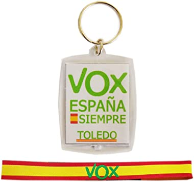 Pack VOX, Llavero metacrilato por Las Dos Caras y Pulsera de Tela (30 x 1.5 cm),: Amazon.es: Equipaje