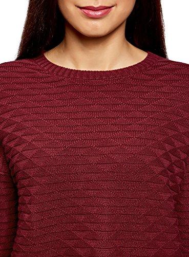 Con Geometrici Oodji Largo Maglione Donna Rosso Motivi Ultra 4903n YIwPzrqY