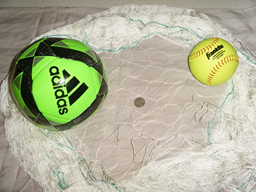 Fishing Net, Soccer, Basketball, Disc Golf Safety Netting. Choose Your Size (12' x ()