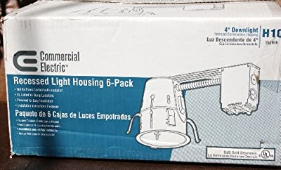 6 ~ Commercial Electric H-10 4 in. Recessed Lighting Kit ~ 6 Pack