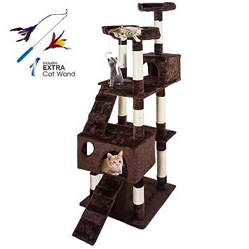 Masthome - Árbol rascador para Gatos con Postes de sisal (50 x 50 x 1701 cm): Amazon.es: Productos para mascotas