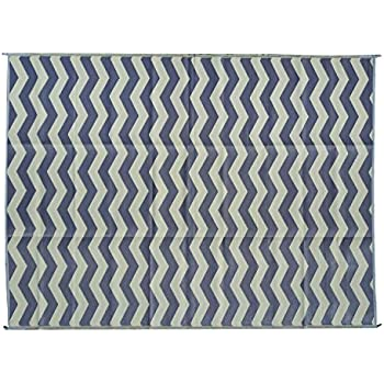 Amazon Com Epic Rv Rugs Rv Mat Patio Rug Chevron Pattern 9x12 Dark