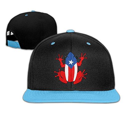 Hip-Hop Trucker Cap Boy and Girl Puerto Rico Frog Mesh Baseball Hats