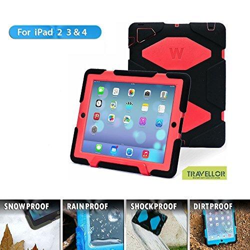 Super Slim Smart Leather Cover Case for Apple iPad mini 4 (Red) - 4