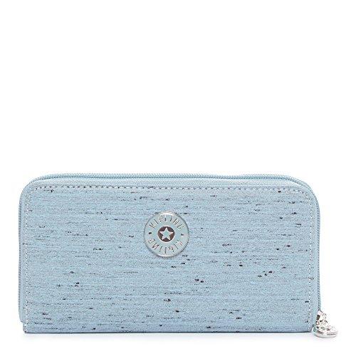 Kipling Women's Clarissa Continental Zip Wallet One Size Shell Blue (Continental Rucksack)