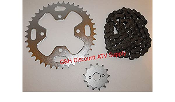 520x90 Drive Chain 13T Front 40T Rear Sprockets Kit for 1986 Honda ATC 350X
