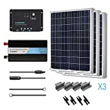 RENOGY 300 Watts 12 Volts Polycrystalline Solar Battery Ready Kit with PWM Charge Controller