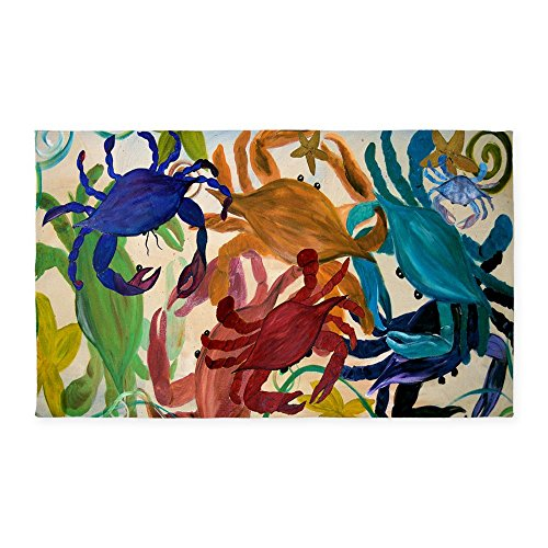 CafePress Crab Party 3'X5' Decorative Area Rug, Fabric Throw Rug (Jelly Bean Kitchen Rugs)