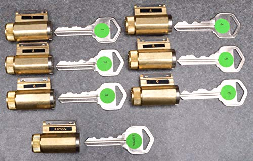 Practice Lock Intro Set - 7 Progressively Pinned KIK Cylinders