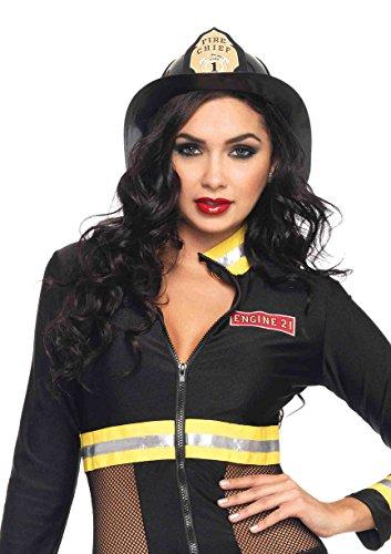 Leg Avenue Fireman Hat Costume Accessory, Black, One Size