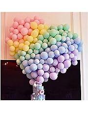 100 قطعة من بالونات لاتكس صغيرة بألوان باستيل مختلفة بطول 5 انش، بالونات لاتكس ملونة للحفلات والزفاف وعيد الميلاد وحفلات استقبال الطفل ولوازم الديكور وأبراج البالونات والأكاليل