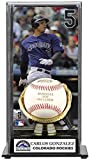 Carlos Gonzalez Gold Glove Baseball Display Case   Details: Colorado Rockies