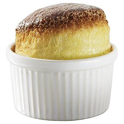 Revol Grands Classiques Porcelain 4.75 Ounce Souffle Dish, Set of 6