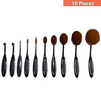 Vegan Oval Makeup Brush Set | Oval Shape Design Perfect for blending foundation | Best Makeup