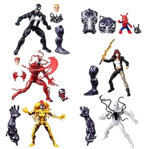 Venom Marvel Legends Wave 1 Action Figures Set of 6 (Monster Venom BAF)
