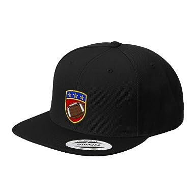 61b12cc6e96 Snapback Baseball Hat Sport Football Crest Logo A Embroidery Team Acrylic  Cap Snaps - Black