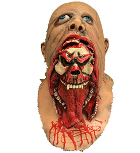 [Micrkrowen Halloween Party Nausea Rotten Rotting Zombie Face Horror Mask] (Make A Girl Zombie Costume)
