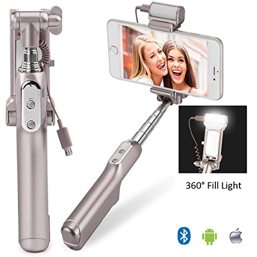 Selfie Stick, MOCREO Bluetooth Selfie Stick with 360 Degree