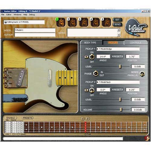 Line 6 Variax Workbench 1.5 Software with USB 99-100-0110