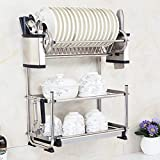 Hyun times Three wall 304 stainless steel dish rack Drain rack dish rack dish rack kitchen shelving rack dishes