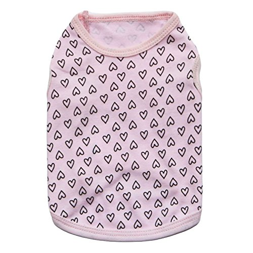 Ollypet Dog Clothes for Small Girl Puppy Apparel Shirt Pink Cute Pet Clothing