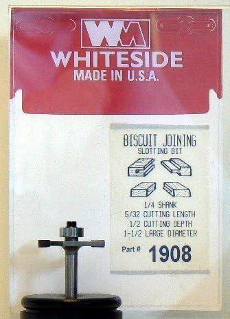 Whiteside 1945 Biscuit Joining Slotting Kit 1//2-inch Shank 5//32 Cutting Length
