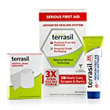First Aid Kit Healing Ointment and Bandages- Premium Best In Class 3X Faster Healing Dr Recommended Patented All Natural for Emergency Kits Cuts Scrapes Burns Sores by Terrasil