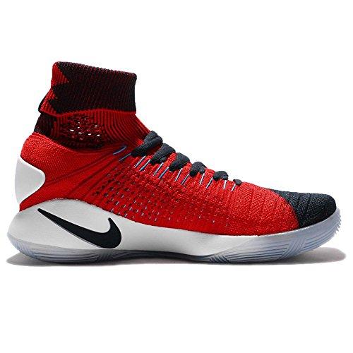 Chaussure De Basket Nike Hyperdunk 2016 Flyknit Hommes Dark Obsidian / Bright Crimson