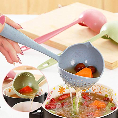 Zixed New Kitchen Hot Pot Soup Spoon Colander 2 in 1 Daily Useful Cooking Tools Kitchen Utensils & Gadgets (In The Kitchen With Stefano Faita Cookbook)