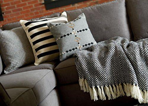 Kess InHouse Jane Smith Meow Repeat Black White Fleece Throw Blanket 60 by 50-Inch 60 X 50