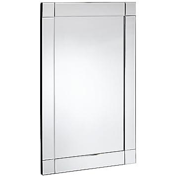 Amazon.com: Hamilton Hills Large Squared Corner Beveled Mirror on ...