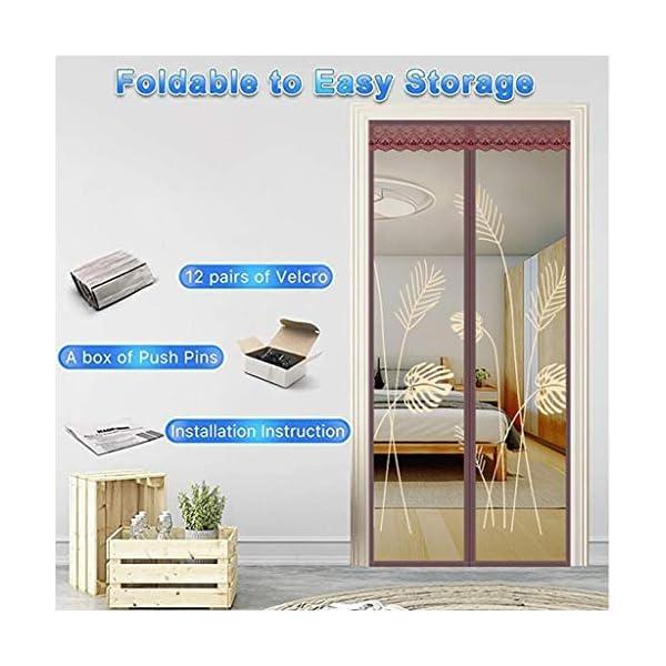 Zanzariera magnetica per porta, rete – tiene lontani le zanzare Out – bambini in età bassa e Dog Friendly (dimensioni… 2 spesavip