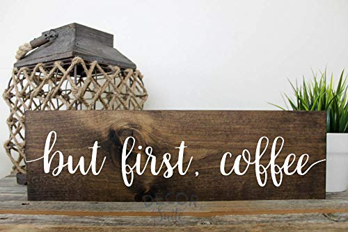 But First Coffee Painted Wood Sign| Rustic Wood Sign| Farmhouse Decor| Kitchen Decor| Housewarming Gift| Gift for Her 18